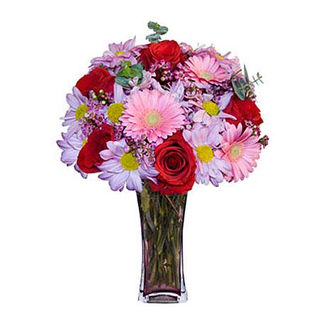 Görsel hediye karisik cam mevsim demeti  Şanlıurfa çiçek yolla , çiçek gönder , çiçekçi