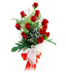 11 adet kirmizi güllerden görsel sölen buket  Şanlıurfa çiçekçi telefonları