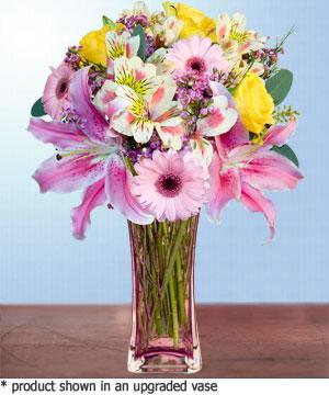 Anneme hediye karisik cam mevsim demeti  Şanlıurfa çiçek gönderme