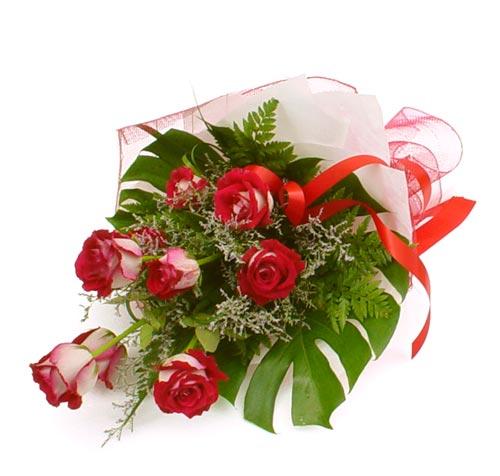 çiçek gönder 7 adet kirmizi gül buketi  Şanlıurfa online çiçek gönderme sipariş