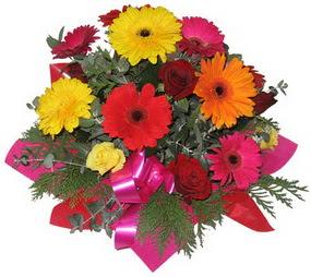 Karisik mevsim çiçeklerinden buket  Şanlıurfa internetten çiçek satışı
