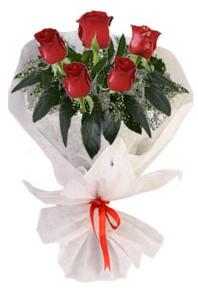 5 adet kirmizi gül buketi  Şanlıurfa çiçek yolla