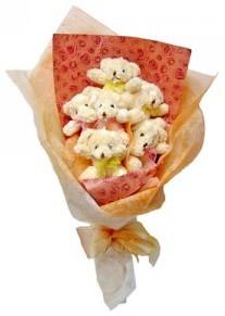 12 adet ayiciktan buket  Şanlıurfa İnternetten çiçek siparişi
