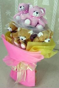 8 adet ayiciktan buket  Şanlıurfa çiçek , çiçekçi , çiçekçilik
