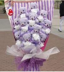 11 adet pelus ayicik buketi  Şanlıurfa hediye sevgilime hediye çiçek