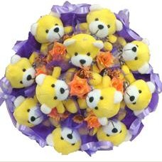 11 adet pelus ayicik buketi  Şanlıurfa çiçek siparişi vermek