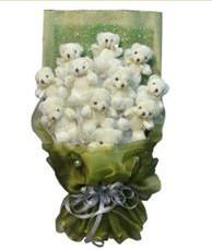 11 adet pelus ayicik buketi  Şanlıurfa çiçek satışı