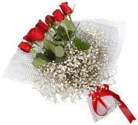 7 adet essiz kalitede kirmizi gül buketi  Şanlıurfa internetten çiçek satışı