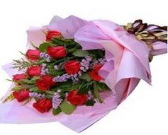 11 adet kirmizi güllerden görsel buket  Şanlıurfa hediye sevgilime hediye çiçek