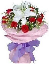 9 adet kirmizi gül 1 adet kazablanka buketi  Şanlıurfa çiçek yolla , çiçek gönder , çiçekçi