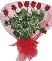 7 adet kipkirmizi gülden görsel buket  Şanlıurfa çiçek siparişi vermek
