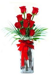 Şanlıurfa çiçek mağazası , çiçekçi adresleri  9 adet mika yada cam vazoda gül tanzimi
