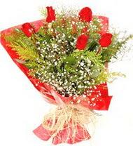 Şanlıurfa çiçek siparişi sitesi  5 adet kirmizi gül buketi demeti