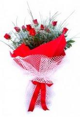 Şanlıurfa anneler günü çiçek yolla  9 adet kirmizi gül buketi demeti