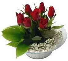 Şanlıurfa çiçek gönderme sitemiz güvenlidir  cam yada mika içerisinde 5 adet kirmizi gül