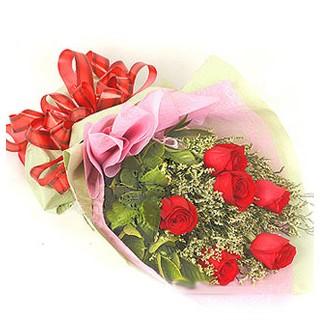Şanlıurfa güvenli kaliteli hızlı çiçek  6 adet kırmızı gülden buket