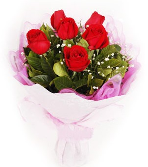 Şanlıurfa internetten çiçek satışı  kırmızı 6 adet gülden buket