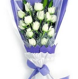 Şanlıurfa çiçek yolla , çiçek gönder , çiçekçi   11 adet beyaz gül buket modeli