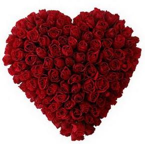Şanlıurfa çiçek yolla , çiçek gönder , çiçekçi   muhteşem kırmızı güllerden kalp çiçeği