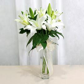 Şanlıurfa çiçek siparişi sitesi  2 dal kazablanka ile yapılmış vazo çiçeği