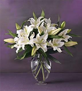 Şanlıurfa anneler günü çiçek yolla  4 dal cazablanca vazo çiçeği