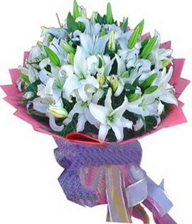 7 dal cazablanca görsel buketi  Şanlıurfa çiçek yolla , çiçek gönder , çiçekçi