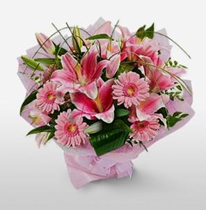 1 dal kazablanka ve kır çiçek görsel buketi  Şanlıurfa çiçek gönderme sitemiz güvenlidir