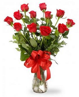 Şanlıurfa güvenli kaliteli hızlı çiçek  12 adet kırmızı güllerden vazo tanzimi