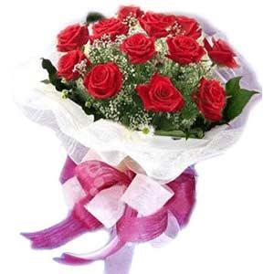 Şanlıurfa kaliteli taze ve ucuz çiçekler  11 adet kırmızı güllerden buket modeli