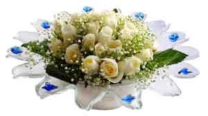Şanlıurfa çiçekçiler  11 adet Beyaz güller özel cam tanzim