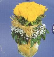 Şanlıurfa çiçek siparişi sitesi  Cam vazoda 9 Sari gül