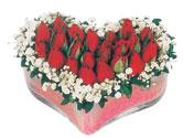 Şanlıurfa çiçek mağazası , çiçekçi adresleri  mika kalpte kirmizi güller 9