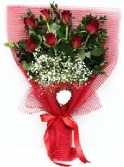 7 adet kırmızı gülden buket tanzimi  Şanlıurfa çiçek , çiçekçi , çiçekçilik