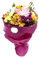 1 demet karışık görsel buket  Şanlıurfa çiçek siparişi sitesi