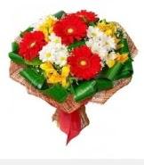 1 demet karışık buket  Şanlıurfa internetten çiçek satışı