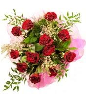 12 adet kırmızı gül buketi  Şanlıurfa çiçekçi mağazası