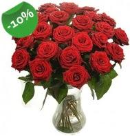 Vazo içerisinde 25 adet kırmızı gül  Şanlıurfa çiçek , çiçekçi , çiçekçilik
