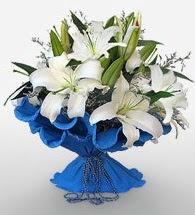 4 dal kazablanka çiçeğinden buket  Şanlıurfa çiçek , çiçekçi , çiçekçilik