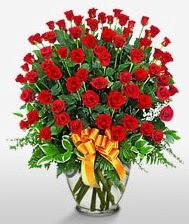 Görsel vazo içerisinde 101 adet gül  Şanlıurfa çiçek , çiçekçi , çiçekçilik
