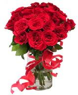 21 adet vazo içerisinde kırmızı gül  Şanlıurfa kaliteli taze ve ucuz çiçekler