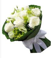 9 adet beyaz gül buketi  Şanlıurfa İnternetten çiçek siparişi