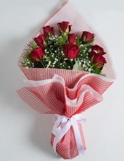 9 adet kırmızı gülden buket  Şanlıurfa kaliteli taze ve ucuz çiçekler
