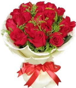 19 adet kırmızı gülden buket tanzimi  Şanlıurfa internetten çiçek siparişi