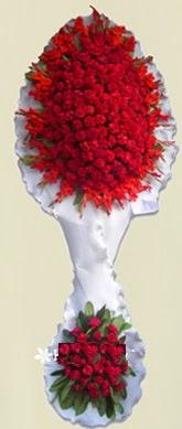 Çift katlı kıpkırmızı düğün açılış çiçeği  Şanlıurfa çiçek siparişi sitesi