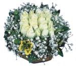 Şanlıurfa çiçek yolla  Beyaz harika bir gül sepeti