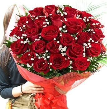 Kız isteme çiçeği buketi 33 adet kırmızı gül  Şanlıurfa hediye sevgilime hediye çiçek