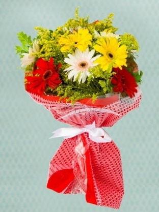 Karışık Gelbera Buketi  Şanlıurfa İnternetten çiçek siparişi