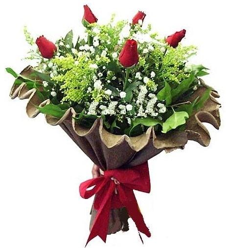 5 adet gülden buket  Şanlıurfa hediye sevgilime hediye çiçek