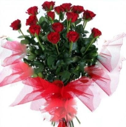 15 adet kırmızı gül buketi  Şanlıurfa çiçek , çiçekçi , çiçekçilik