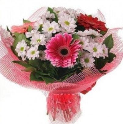 Gerbera ve kır çiçekleri buketi  Şanlıurfa çiçek gönderme